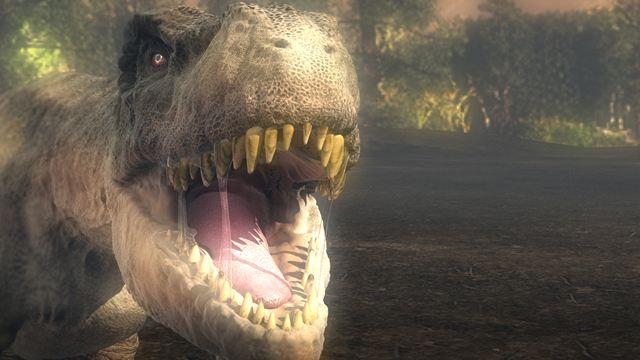 ティラノサウルスの鋭く尖った歯