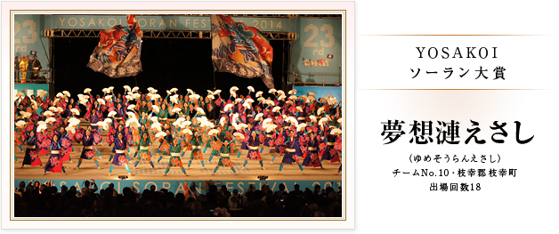 YOSAKOIソーラン2014大賞