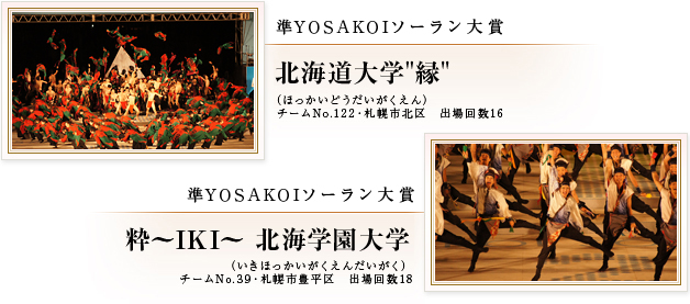 YOSAKOIソーラン2014準大賞