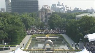 昨年の広島市・平和記念式典より