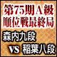 将棋 第75期A級順位戦最終局 森内俊之九段 vs 稲葉陽八段