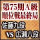 将棋 第75期A級順位戦最終局 佐藤康光九段 vs 広瀬章人八段