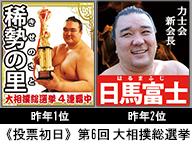 大相撲総選挙 幕内力士42名 政見ポスター放送