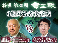 将棋・竜王戦 加藤一二三 九段 vs 高野智史 四段