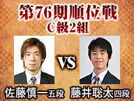 【将棋】第76期順位戦 C級2組 佐藤慎一五段 vs 藤井聡太四段