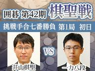 囲碁 棋聖戦 井山棋聖vs一力八段