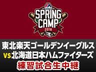 プロ野球 練習試合◆楽天vs日本ハム