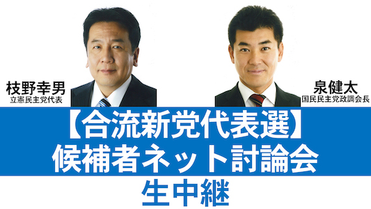 合流新党代表選