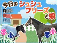 【馬房定点】今日のシュシュブリーズと娘。 5月25日