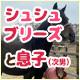 【馬房定点】今日のシュシュブリーズと息子(次男) 5月14日